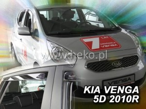 Wind deflectors KIA Venga 5d 2010-> (rear deflectors included)