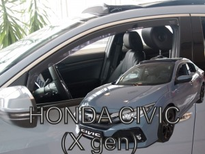Wind deflectors HONDA Civic X 4/5d 2017->