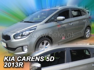 Wind deflectors KIA Carens 5d 2013-> (rear deflectors included)
