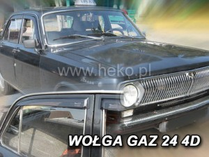 Wind deflectors WOŁGA Gaz 24 4d (stick-on) (rear deflectors included)