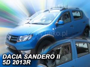 Wind deflectors DACIA Sandero II / Stepway II 5d 2013-> (rear deflectors included)