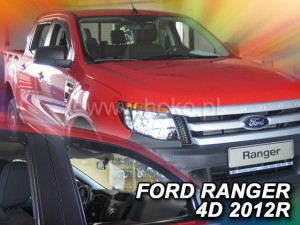 Wind deflectors FORD Ranger III 4d 2012->