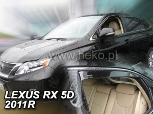 Wind deflectors LEXUS RX III 5d 2009-2015 (AL10) (rear deflectors included)