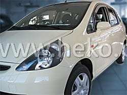 Wind deflectors HONDA Jazz 5d 2001-2009 (rear deflectors included)