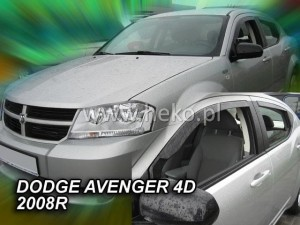 Wind deflectors DODGE Avenger 4d 2008-> (rear deflectors included)