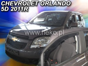 Wind deflectors CHEVROLET Orlando 5d 2011-> (front only)
