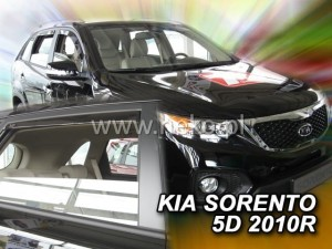 Wind deflectors KIA Sorento II 5d (SL) 2009-2015 (rear deflectors included)