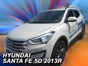 Wind deflectors HYUNDAI Santa Fe III 5d 2012-2018 (rear deflectors included)