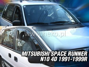 Wind deflectors MITSUBISHI Space Runner N10 4d 1991-1999 (front only)
