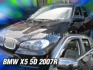 Wind deflectors BMW X5 5d E70 2006-2013 (rear deflectors included)