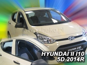 Wind deflectors HYUNDAI i10 II 5d 2014-> (rear deflectors included)