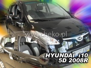 Wind deflectors HYUNDAI i10 I 2007-2013 5d (rear deflectors included)