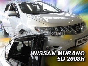 Wind deflectors NISSAN Murano Z51 5d 11.2008-> (rear deflectors included)