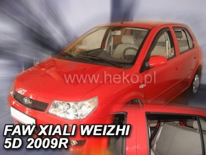 Wind deflectors FAW Xiali Weizhi 5d 2007-> (rear deflectors included)