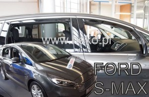 Wind deflectors FORD S-max II 5d 2016-> (rear deflectors included)
