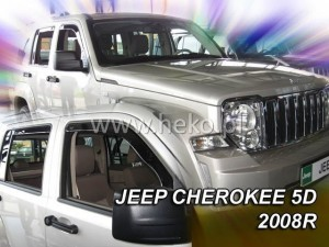Wind deflectors JEEP Cherokee / Liberty KK 5d 2007-2012 (rear deflectors included)