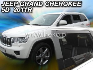 Wind deflectors JEEP Grand Cherokee WK2 5d 2011-> (rear deflectors included)