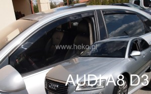 Wind deflectors AUDI A8 (D3) 4d 2003-2010 (rear deflectors included)