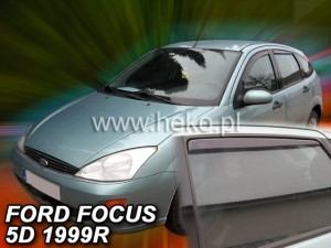 Wind deflectors FORD Focus MK1 4d 1998-2005 sedan htb (rear deflectors included)