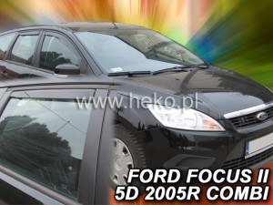 Wind deflectors FORD Focus MK2 5d 2004-2011 wagon (rear deflectors included)