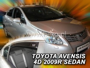 Wind deflectors TOYOTA Avensis T27 4d 2009-> sedan (rear deflectors included)