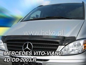 Wind deflector for front windscreen MERCEDES Vito / Viano 2003-2014 (mounted with clips)