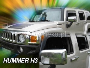 Wind deflectors HUMMER H3 5d (rear deflectors included)