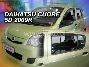 Wind deflectors DAIHATSU Cuore VII 5d 2007-> (rear deflectors included)