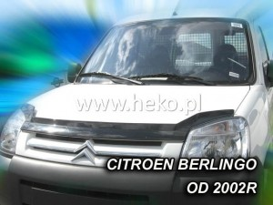 Wind deflector for front windscreen CITROEN Berlingo / PEUGEOT Partner 2002-> (mounted with clips)