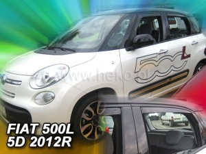 Wind deflectors FIAT 500 L 5d 2012-> (rear deflectors included)
