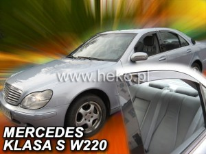 Wind deflectors MERCEDES S W220 1999-2005 (rear deflectors included)