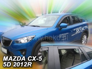 Wind deflectors MAZDA CX 5 5d 2011-2017 (rear deflectors included)