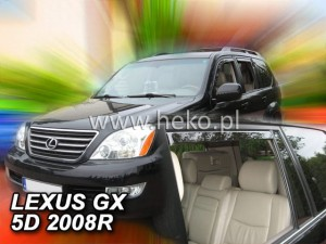 Wind deflectors LEXUS GX 5d 2004-2009 (rear deflectors included)
