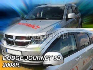 Wind deflectors DODGE Journey 5d 2008-> / FIAT Freemont 5d 2011-> (rear deflectors included)
