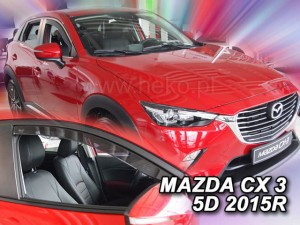 Wind deflectors MAZDA CX 3 5d 2015->