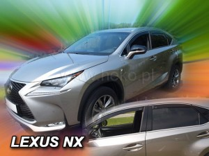 Wind deflectors LEXUS NX 5d 2014-> (rear deflectors included)