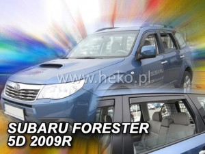 Wind deflectors SUBARU Forester III SH 5d 2008-2013 (rear deflectors included)