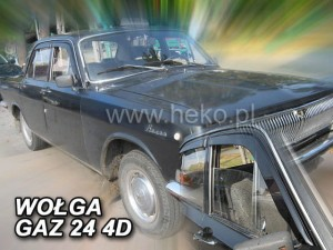 Wind deflectors WOŁGA Gaz 24 4d (stick-on) (front only)