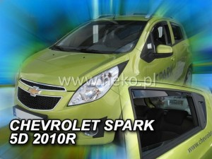 Wind deflectors CHEVROLET Spark M300 5d 2010 (rear deflectors included)