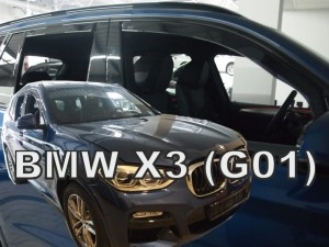 Wind deflectors BMW X3 G01 5d 2017-> (rear deflectors included)