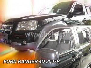 Wind deflectors FORD Ranger II 4d 2007-2012 (rear deflectors included)