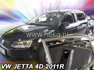 Wind deflectors VOLKSWAGEN Jetta 4d 2011-> sedan (rear deflectors included)