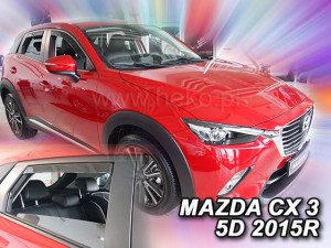 Wind deflectors MAZDA CX 3 5d 2015-> (rear deflectors included)