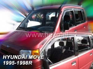 Wind deflectors DAIHATSU Move 5d 1995-1998 (rear deflectors included)