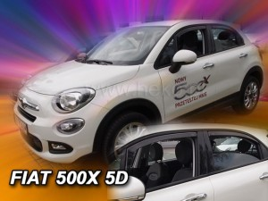 Wind deflectors FIAT 500 X 5d 2015-> (rear deflectors included)