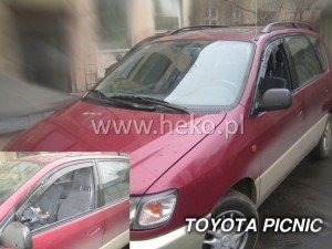 Wind deflectors TOYOTA Picnic 5d 1996-2001 (front only)