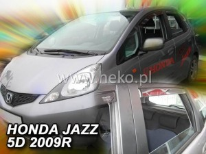 Wind deflectors HONDA Jazz 5d 2009-2015 (rear deflectors included)