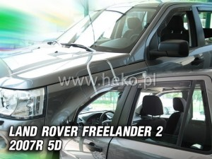 Wind deflectors LAND ROVER Freelander II 5d 2007 (rear deflectors included)