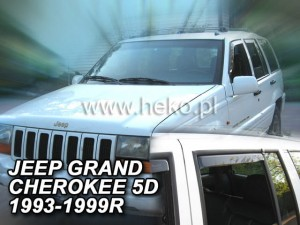 Wind deflectors JEEP Grand Cherokee ZJ 5d 1993-1999 (rear deflectors included)
