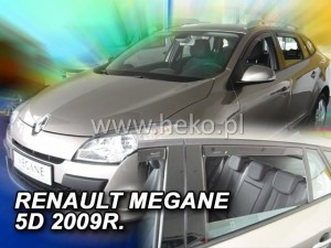 Wind deflectors RENAULT Megane III Grandtour 5d 11.2008-> wagon (rear deflectors included)
